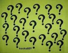 Riddler Costume Question Mark Symbols Custom Iron on Patches Batman Joker Poison Ivy Comic-Con Cosplay | eBay