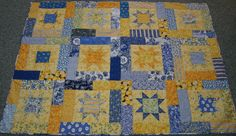https://flic.kr/p/7FKNdb | Sunny Stars | This quilt is for Hazen, a newcomer to our planet.  Welcome, Sir!