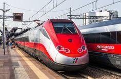 FS ETR 500 Frecciarossa at Stazione Milano Rogoredo in Italy, 300 km/h