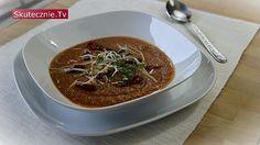 Pomidorowa zupa z czerwoną soczewicą i warzywami Lactose Free, Gluten Free, Vegetarian Soup, Thai Red Curry, Soup Recipes, Chili, Beef, Ethnic Recipes, Desserts