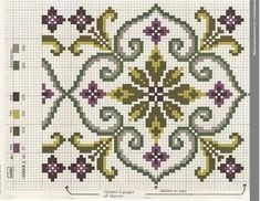 Bargello, Needlepoint, Cross Stitch Patterns, Embroidery Designs, Needlework, Free Pattern, Diy And Crafts, Mandala, Kids Rugs