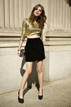 Gold. Download the #FashEngage iPhone App in the iTunes App Store!