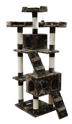 Kitty Mansions Bel Air Cat Tree *** Special cat product just for you. : Cat Tree and Tower Cat Tree Condo, Cat Condo, Large Cat Tree, Cat Gym, Cat Activity, Tree Furniture, Cat Towers, Cat Fleas