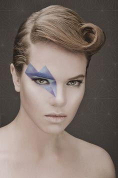 Geometric diamond shape makeup