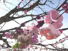 cherry blossom yarn bomb - this would be cute to do right before the leaves come out in the spring