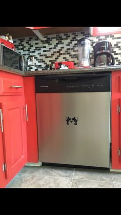 Mickey and Minnie mouse dishwasher decals