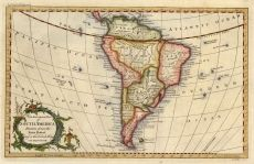 Antique South America Map Wallpaper - £21.95 Antique World Map, Vintage World Maps, South America Map, Fast Print, World Map Wallpaper, Print Store, Hand Coloring, Digital Image, Antiques
