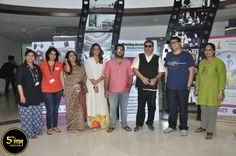 Playback singer Arijit Singh , Chairman and Founder of Whistling Woods International, Mr. Subhash Ghai , President, Whistling Woods International, Meghna Ghai Puri and other dignitaries in an exclusive photo after the #5thVeda event