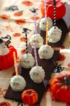ミイラのハロウィンロリポップ!#ハロウィンレシピ #mummy #Lollipop #halloween