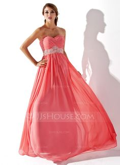 Prom Dresses - $130.49 - Empire Sweetheart Floor-Length Chiffon Prom Dress With Ruffle Beading (018005353) http://jjshouse.com/Empire-Sweetheart-Floor-Length-Chiffon-Prom-Dress-With-Ruffle-Beading-018005353-g5353?gver=oEgVH&ver=xdegc7h0