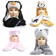 Animal Hats perfect gift for kids and teens