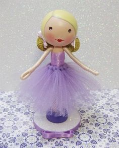 Clothes pin doll by Enchanted Belles