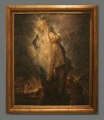 Maxim Kopf (1892-1958) A Pilgrim, 1920, oil on canvas (Sergei P. Zubkov) Tags: november art painting czech prague praha fair palace trade 2011 veletržní