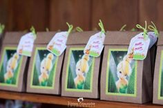 Favor Bags from a Tinkerbell Fairy Garden Birthday Party via Kara's Party Ideas KarasPartyIdeas.com (20)