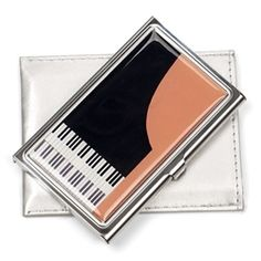Grand Piano Card Case - $19.95 at The Music Stand. Made in the USA.