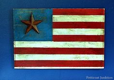 iron star rustic american flag, diy home crafts, painting, repurposing upcycling, seasonal holiday d cor Flag Signs, Diy Signs, July Crafts, Holiday Crafts, Holiday Decor, Christmas Gifts, American Flag Crafts, Flag Quilt, Pallet Art