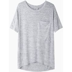 Rag & Bone / Jean Giada Tee ($150) ❤ liked on Polyvore featuring tops, t-shirts, shirts, tees, slouchy t shirt, t shirts, gray shirt, curved hem t shirt and crew neck t shirt