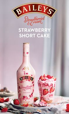 Give your strawberry shortcake a sweet upgrade w/ Baileys Strawberries & Cream l., your strawberry shortcake a sweet upgrade w/ Baileys Strawberries & Cream liqueur. To make, melt white chocolate into bowl & cool. Summer Drinks, Fun Drinks, Alcoholic Drinks, Baileys Drinks, Beverages, Cocktail Recipes, Cocktails, Cocktail Drinks, Cream Liqueur