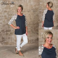 "321 Likes, 13 Comments - Glamour Farms Boutique (@glamourfarmsboutique) on Instagram: ""*The Eloise Top* is over-the-top #adorable! Ultra #comfortable #french terry material in a solid…"""