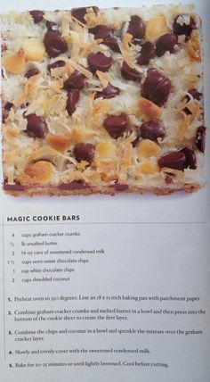 Middlebury's Magic Cookie Bars