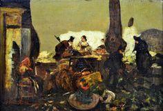 MODESTO BROCOS Y GOMES - (1852 - 1936)    Título: Figuras  Técnica: óleo sobre tela  Medidas: 19 x 26 cm  Assinatura: canto inferior esquerdo