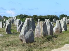 Carnac, France is famous as the site of more than 3,000 prehistoric standing stones.