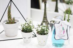 DIY Estilo Tumblr e Pinterest, vasinhos decorados, vaso de planta fofo, piramide decorativa, decoração faça você mesmo, unicorn water, água de unicórnio,