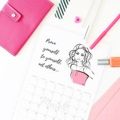 free downloadable printable calendar planner March 2018