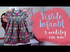 Patricia Cardoso - Vestido infantil 3 modelos - YouTube