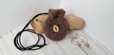 Crochet Crystal Pouch Necklace Crochet Pouch, Medicine Bag, Essential Oil Bottles, Alpaca Wool, Pouches, Needle Felting, Fiber Art, My Etsy Shop, Crystals