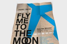 Affiche Fly me to the moon voor Huis van Winckel | Omygod.be