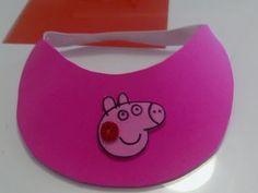Visera Peppa Pig de goma eva muy fácil - YouTube
