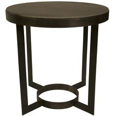 Noir Parker Side Table Stone ($696) ❤ liked on Polyvore featuring home, furniture, tables, accent tables, stone furniture, hand made furniture, noir table, stone top table and stone end tables
