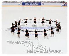 Synchronized skating, quotes, Synchro! Esprit De Corps, team, teamwork.
