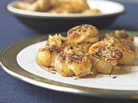 Healthy Smashed Potatoes - Approx. 4.5 g fat / 225 cal per serving.  Nutrition grade:  A