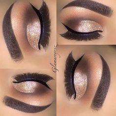 Beautiful glitter cut crease with Eye Kandy glitters www.eyekandycosmetics.com