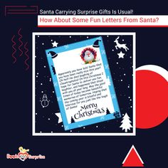 Want to make someone smile this Christmas? These letters from Santa are sure to spread some merry cheers! Christmas Gift Box, Christmas Music, Christmas Cards, Creative Gifts, Unique Gifts, Personalized Letters From Santa, Funny Letters, Best Boyfriend Gifts, One Wish