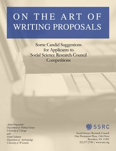 The Art of Writing Proposals