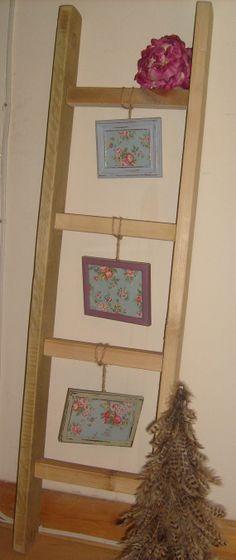 Shabby Chic Rustic Wooden Ladder  Photo by RoseGardenEmporium, £29.95