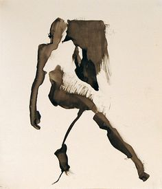 Ink on stone paper, Karen Darling Human Figure Drawing, Figure Sketching, Life Drawing, Figure Painting, Painting & Drawing, Art Sketches, Art Drawings, A Level Art, Watercolor And Ink