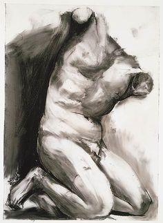 Jim Dine (b. Glyptotek Drawing Charcoal and pastel on plastic sheet Figure Drawing Models, Human Figure Drawing, Figure Drawing Reference, Life Drawing, Figure Drawings, Anatomy Reference, Pose Reference, Art Postal, Jim Dine