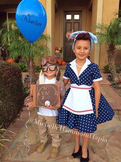 lucille ball of i love lucy and carl from disney pixar up halloween costumes kid - I Love Lucy Halloween Costumes