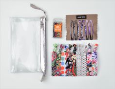 Gift Bags!! Here is the #janetran Casual Assorted Medium Gift Bag featuring an asteroids print bobby pin box, clips and knotted hair ties.