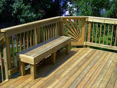 Add a matching bench to your deck!