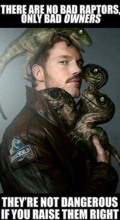 Chris Pratt as Owen Grady raptor whisperer #JurassicWorld