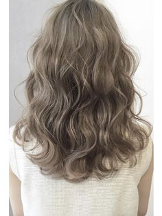 Olive beige ☆ bass digital permanent - New Site Perm On Medium Hair, Medium Short Hair, Medium Hair Styles, Curly Hair Cuts, Wavy Hair, Dyed Hair, Curly Hair Styles, Hair Colour Design, Hair Color