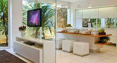 Decor Salteado - Blog de Decoração | Design | Arquitetura | Paisagismo: TV giratória – veja ambientes versáteis e integrados com essa novidade!