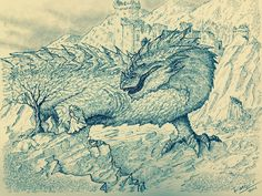 Glaurung and nienor by DracarysDrekkar7.deviantart.com on @DeviantArt