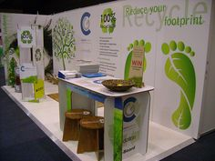 Booth for retail expo made from green board by Xanita.com, via Flickr