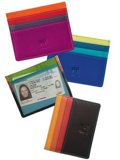 Organize essentials with European style. The ID Holder features soft nappa calfskin, Italian design and great craftsmanship. Get colorfully cool now!